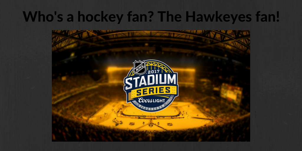The Hawkeyes will play Stadium Series February 25, 2017